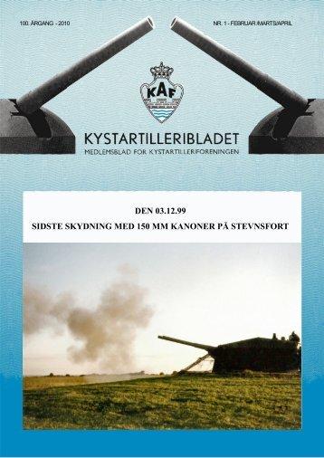 den 03.12.99 sidste skydning med 150 mm kanoner på stevnsfort