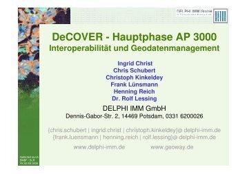 DeCOVER - Hauptphase AP 3000
