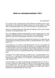 Aftale om redningsberedskabet i 2012 - Beredskabsstyrelsen
