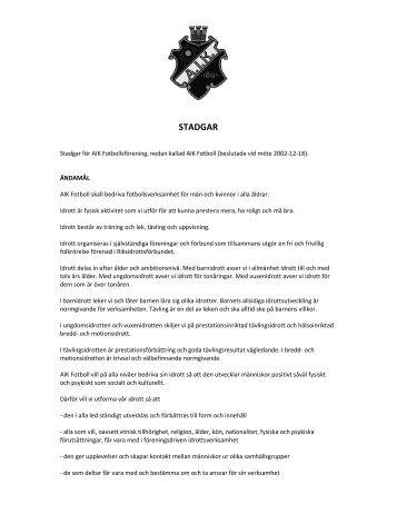 STADGAR - AIK Fotboll