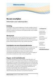 Na een overlijden - Liesbreukcentrum Nederland