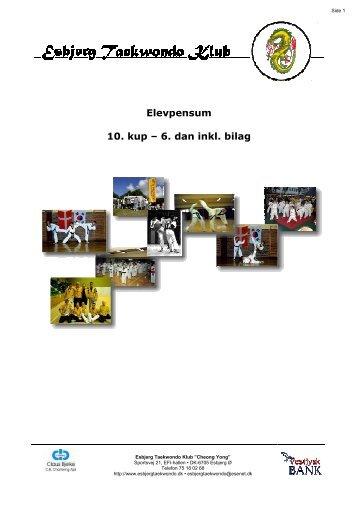 Pensum - Esbjerg Taekwondo Klub