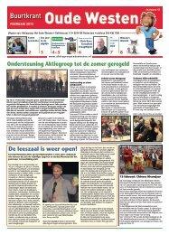 Buurtkrant Oude Westen februari 2013, Aktiegroep Het Oude ...