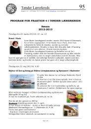 PROGRAM FOR FRAKTION 4 I TØNDER LÆRERKREDS - Kreds 95