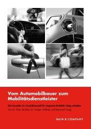Vom Automobilbauer zum Mobilitätsdienstleister - Bain & Company