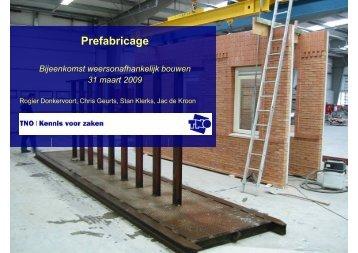 Prefabricage - Aannemersfederatie Nederland