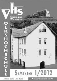 SEMESTER 1/2012 - VHS Schriesheim