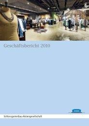 Geschäftsbericht 2010 - Bahnhofplatz-Gesellschaft