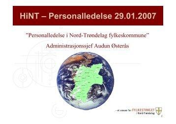 HiNT - personalledelse 29-01-2007
