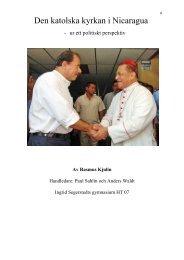 Den katolska kyrkan i Nicaragua - Vänskapsförbundet Sverige ...