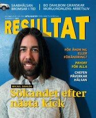 Tidningen Resultat 1-2011 - Arbetslivsresurs