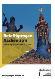 Beteiligungsbericht 2011 der Stadt Aachen