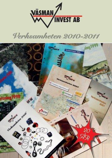 Verksamhetsrapport 2010 - Väsman Invest AB