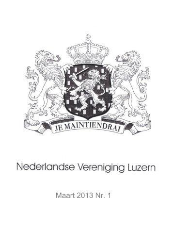 Maart 2013 Nr. 1 - Nederlandse Vereniging Luzern