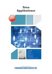 Tetra Applikationer 2012 (Brochure) - VHF Group AS