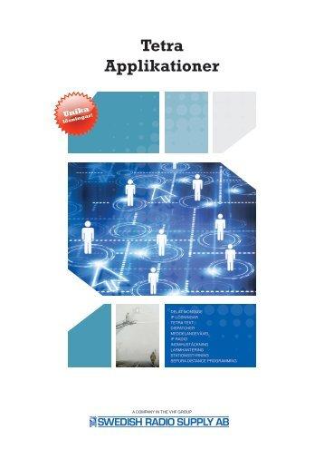 Tetra Applikationer 2012 (Brochure) - VHF Group AS