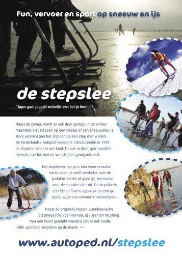 Stepslee flyer - Nederlandse Autoped Federatie