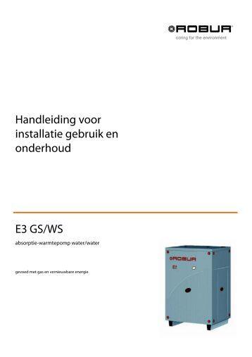 Handleiding voor installatie gebruik en onderhoud E3 GS/WS - Robur