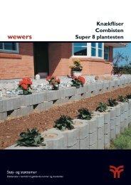 Knækfliser Combisten Super 8 plantesten - Wewers