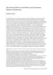 Vídeňská škola dějin umění a - Journal of Art Historiography