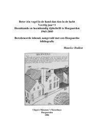 Veertig jaar heemkundig tijdschrift te Hoegaarden - Heemkring ...