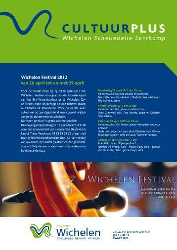Cultuurplus maart2012.pdf - Gemeente Wichelen