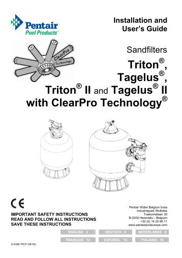 Triton , Tagelus , Triton II and Tagelus II with ClearPro Technology