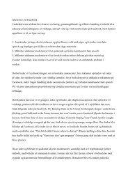 Åbne brev til Facebook - Dansk Kvindesamfund