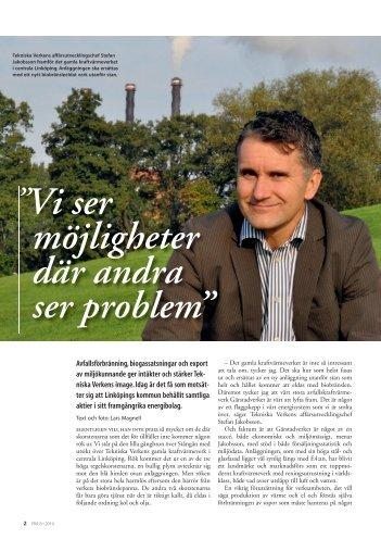 Tekniska Verken bygger biobränslen i Linköping - Svensk Energi