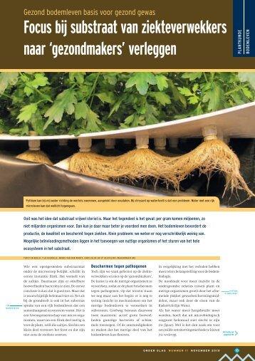 Focus bij substraat van ziekteverwekkers naar ... - Plant Health Care