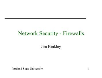 What is Firewall Security?