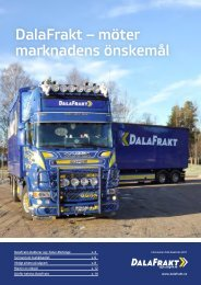 DalaFrakt – möter marknadens önskemål - DalaFrakt och Logistik AB