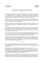 Enkelte bemærkninger til forslaget - Inatsisartut