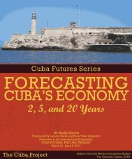 Forecasting Cuba's Economy - The Cuba Project