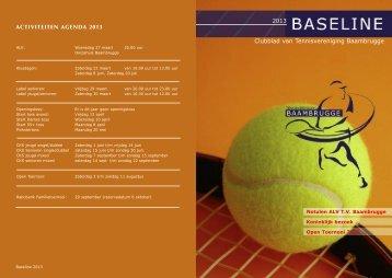 Baseline 2013 - Tennis Vereniging Baambrugge