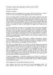 Tal hållet i samband med utdelandet av NCK:s pris för år 2012