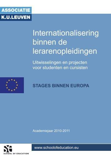 Stages binnen Europa - School of Education