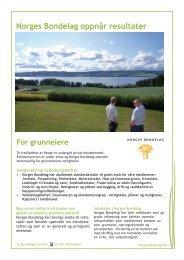 NB oppnår resultater - For grunneiere (2013) - Norges Bondelag