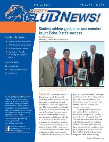 Student-athlete graduation rate remains key to Boise - Varsity B Club