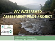 wv watershed assessment pilot project - Wvwaterconference.org