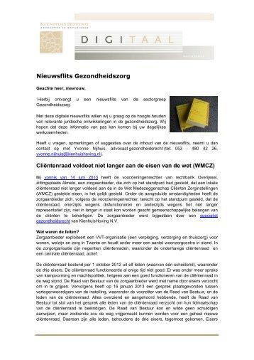 nr.6 - juni 2013 - KienhuisHoving advocaten en notarissen