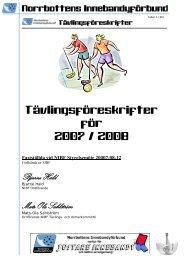 norrbottens innebandyförbunds särskilda tävlingsföreskrifter