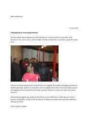 Kære medlemmer 9. marts 2011 Tilbageblik på de seneste ... - EAMH