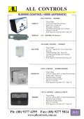 Industrial Gas Catalogue- Section 6-13 - All Controls - Page 3