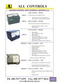 Industrial Gas Catalogue- Section 6-13 - All Controls - Page 6