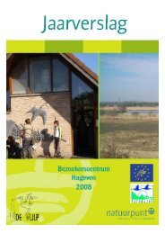 Jaarverslag bezoekerscentrum Hageven 2008 1 - Natuurpunt Neerpelt