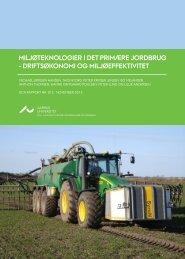 DCA rapport om Miljøteknologier i det primære jordbrug