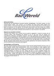 bekijk onze pdf folder over de werking van infrarood - Badwereld
