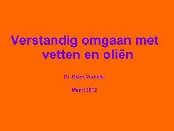 """Dr Geert Verhelst: """"Verstandig omgaan met oliën ... - Bioshop Klimop"""