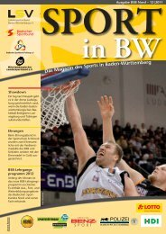 Download Sport in bw Nr. 12/11 - Badischer Sportbund Nord ev